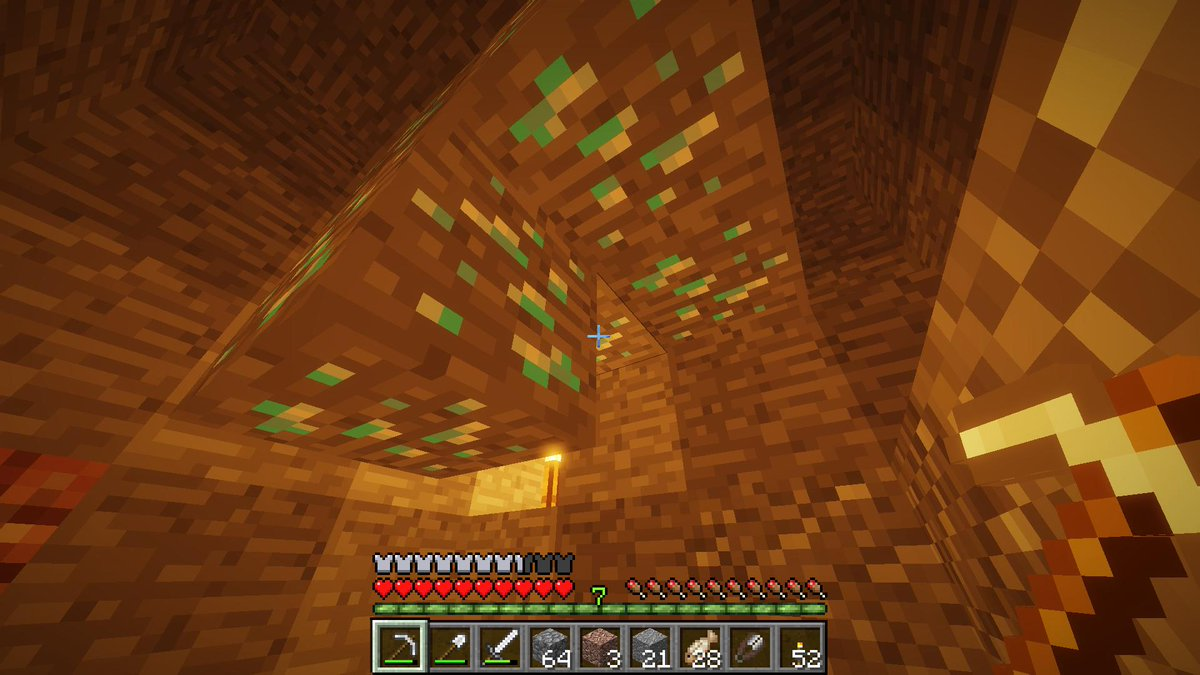 Name something more beautiful than the sight of your first diamonds on your new world