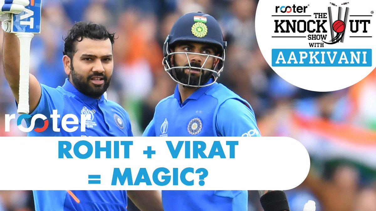 Lots of questions came in about Rohit and Virat. What makes them so special, their batting styles etc.How good are these two when they bat?Watch the latest episode of @RooterSports presents 'The Knockout Show' with #AapKiVani here: https://youtu.be/1qQtQa6k8EI