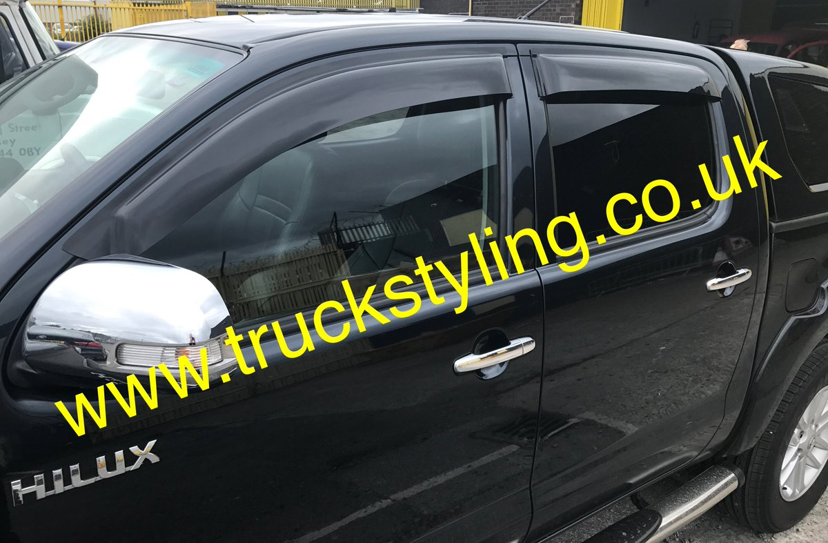 #Toyota #Hilux MK6/7 Window Visors exterior fit £45 Inc VAT. Tel/Text: 077-8662-6006 for more info. Buy now: http://paypal.me/TruckStylingLtd/45 … via PayPal.
