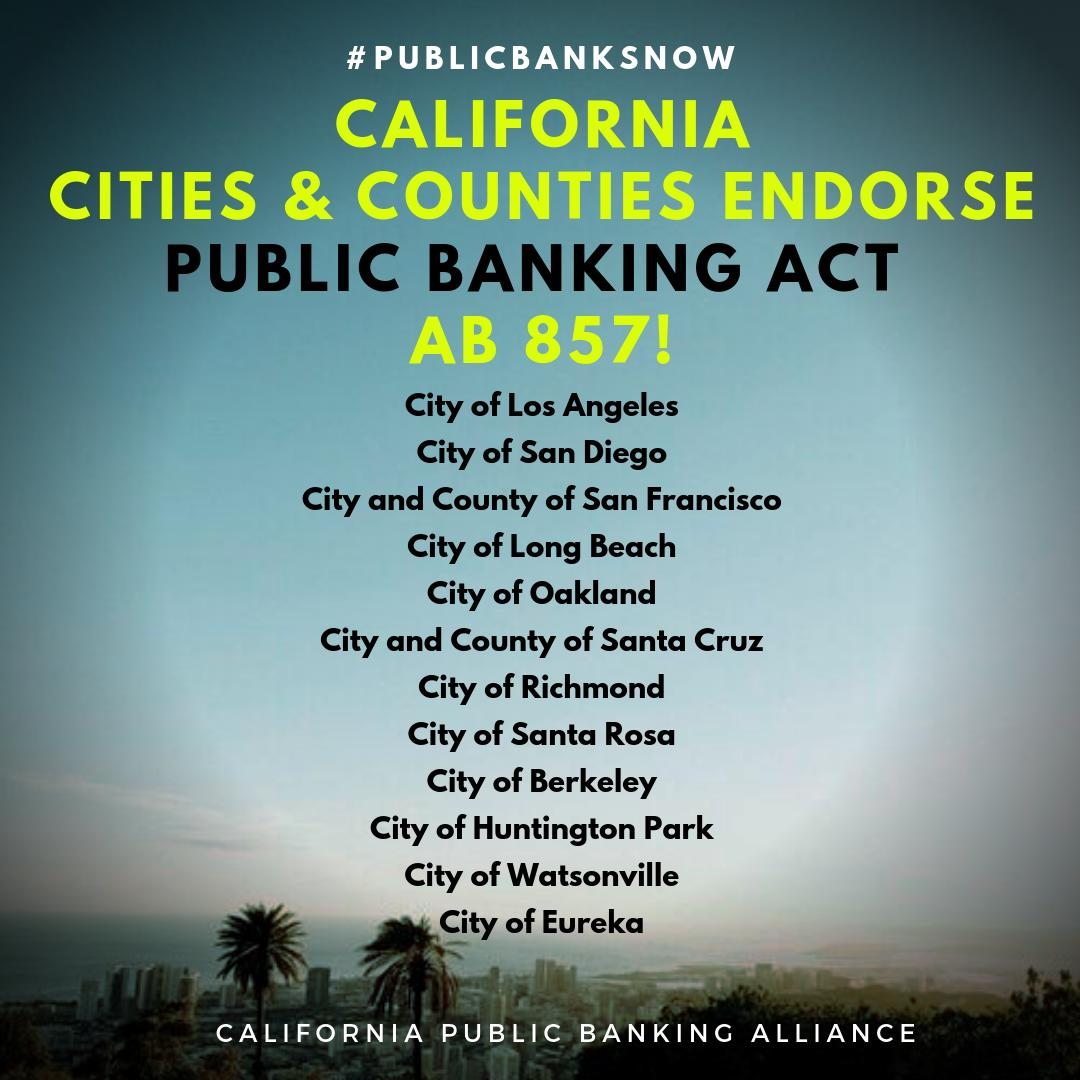 California Public Banking Alliance On Twitter The Largest