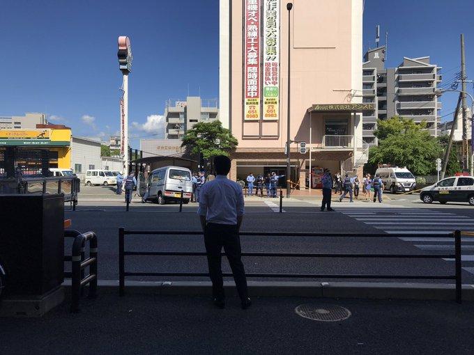 福岡市博多区の国道3号線で事故が起きた現場の画像