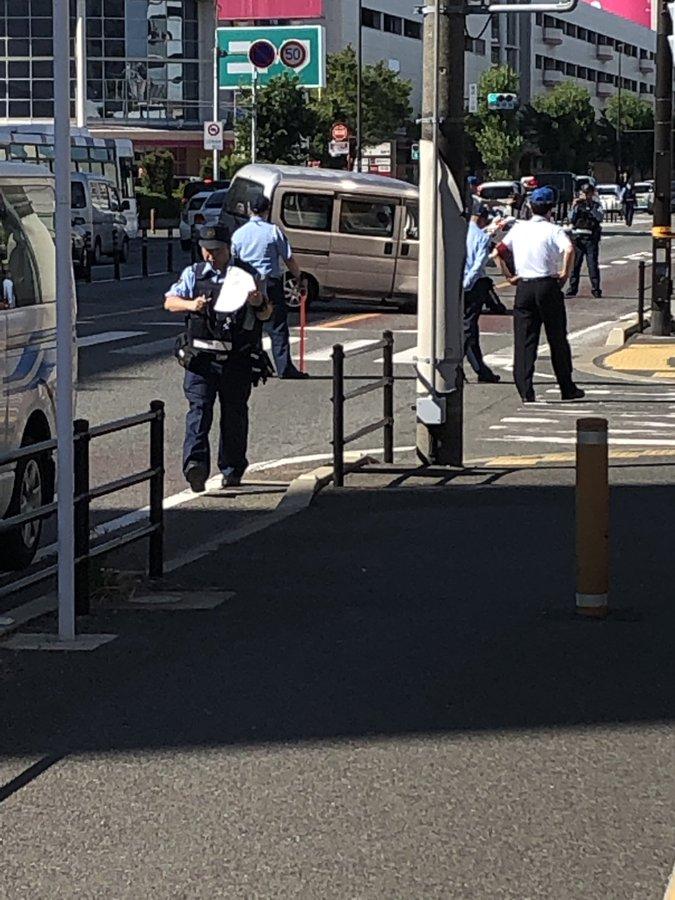 ゆめタウン博多付近の国道3号線で事故が起きた現場の画像