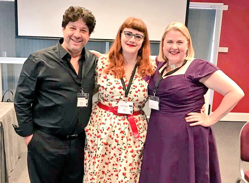 With my fabulous colleagues presenting on the Film & Visual Art panel at @PurpleReignconf #Prince #PurpleReignConf