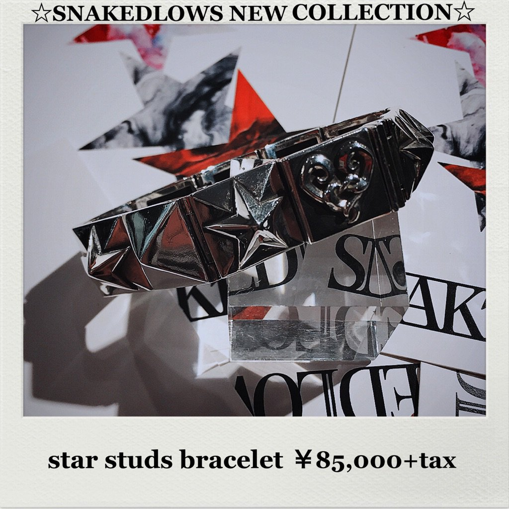 【#snakedlows #new #bracelet 】 #dealdesign #collaboration #collection #item #star #studs #rock…   ☆instagram☆  https://www. instagram.com/p/BUq4am2g0QF/  &nbsp;  <br>http://pic.twitter.com/yLhw7c4y3R