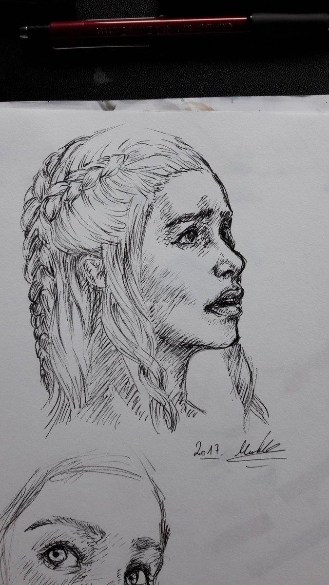 Daenerys Targaryen Made with a 02 pigmamicron only #GameOfThronesTVShows #gameofthrone #Daenerys #portrait #art #DessinDuJour #emiliaclarke<br>http://pic.twitter.com/jR194RKnvH