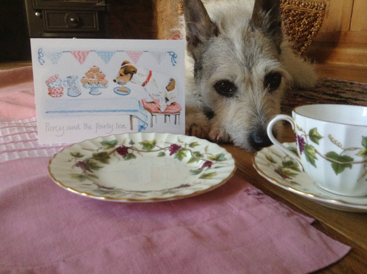 So where&#39;s the cake?! #demandingvistors #bankholidaymonday #jackrussell #greetingcards <br>http://pic.twitter.com/VAPmprbqx0
