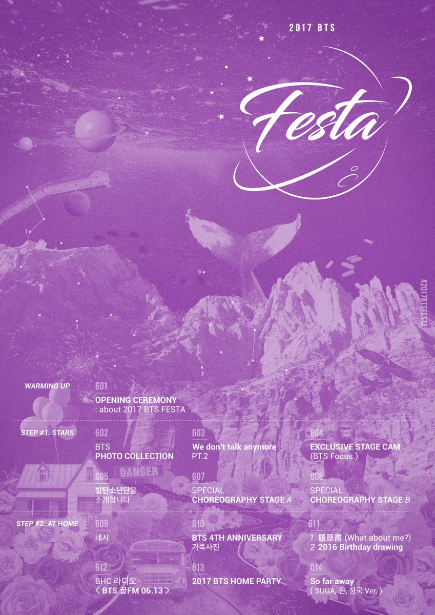 #방탄소년단 2017 BTS FESTA Timetable #2017BTSFESTA https://t.co/zSVJnWoKpP