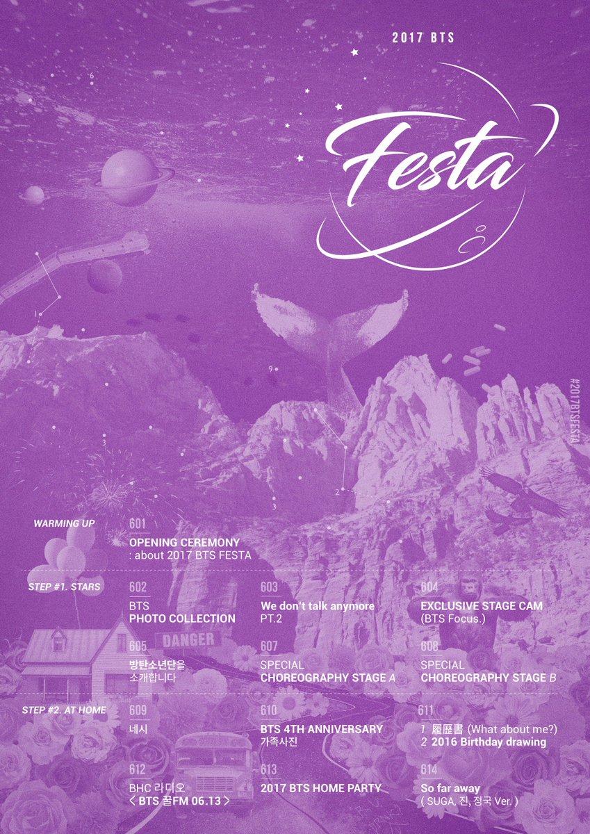 #방탄소년단 2017 BTS FESTA Timetable #2017BTSFESTA