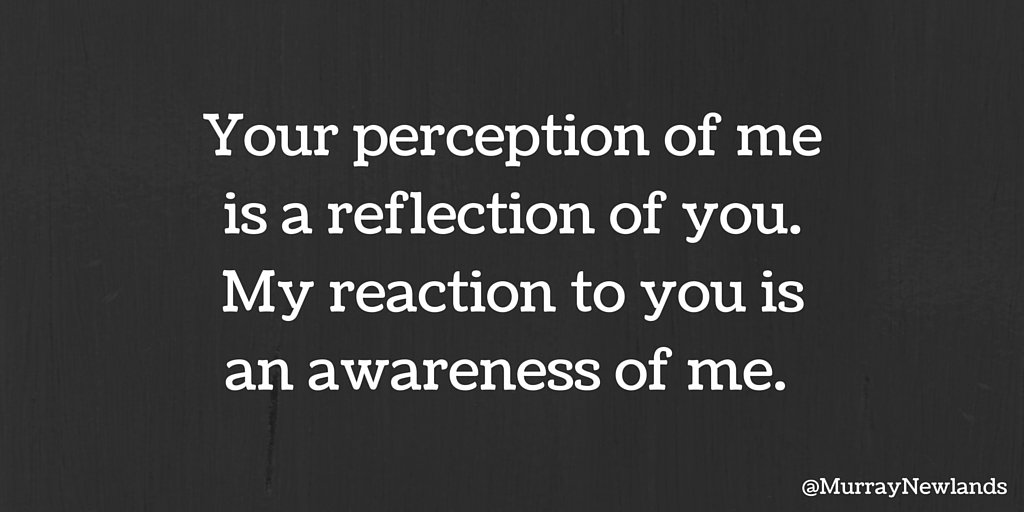 Your perception of me is a reflection of you. My reaction to you is an awareness of me.   #Motivation <br>http://pic.twitter.com/Z9eSZYyJZN