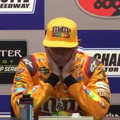 Kyle Busch was a little frustrated after finishing 2nd in the #CocaCol...