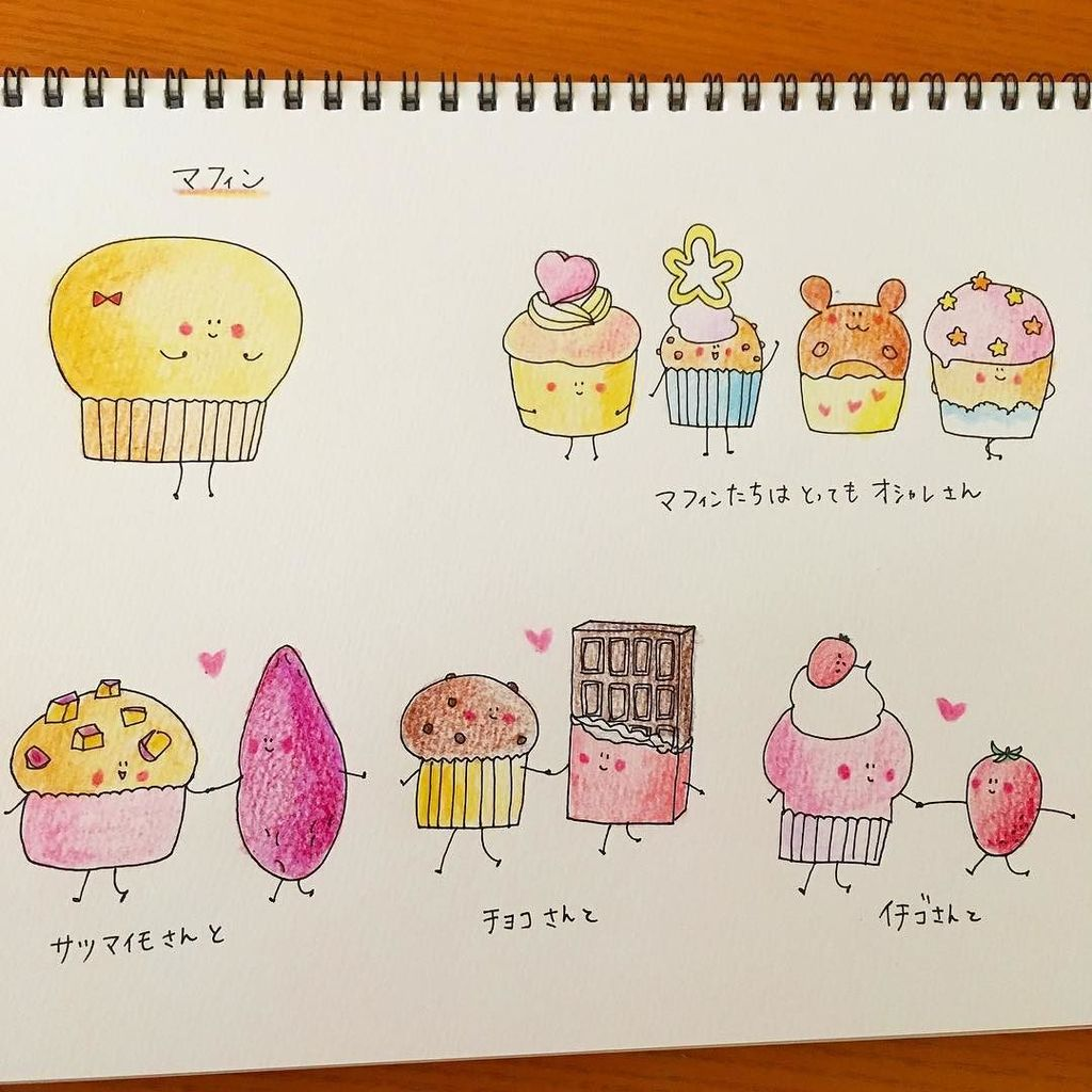 "yuming on twitter: ""パンたちの簡単な自己紹介。 ⑩マフィン #絵が好き"