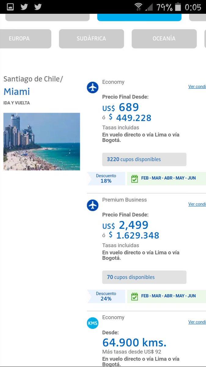 #CyberDayCL @LATAM_CHI @SERNAC Pasaje Miami hace 1 mes atrás $449.000 ,hoy : super oferta $469.000 https://t.co/XnC6d1WflV