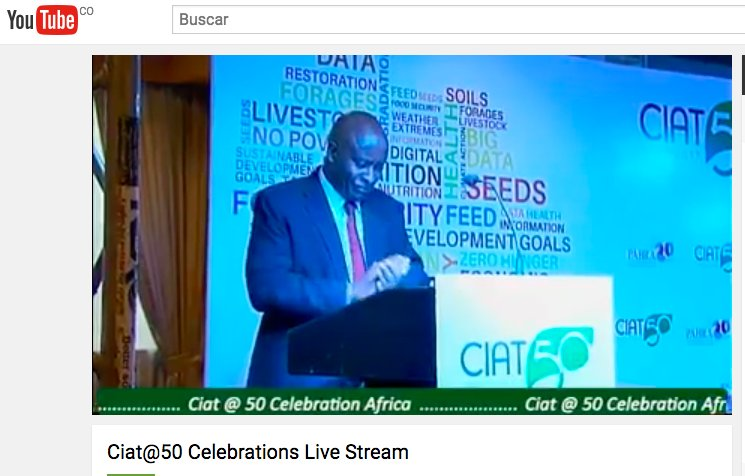#LiveStream: Join us using #CIAT50 & #PABRA20 to celebrate our Ann...
