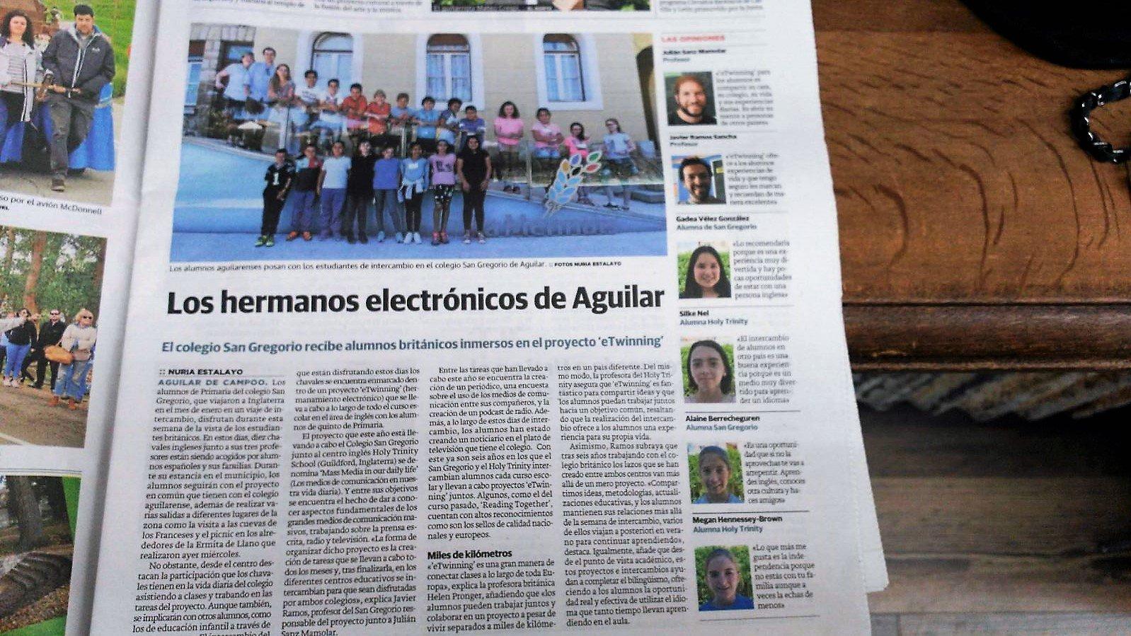 Crónica de una semana especial en @colsangregorio con el #intercambio #eTwinning con @HTPDSchool Gracias a @nortecastilla cc: @eTwinning_es https://t.co/F6SDkmEBbx