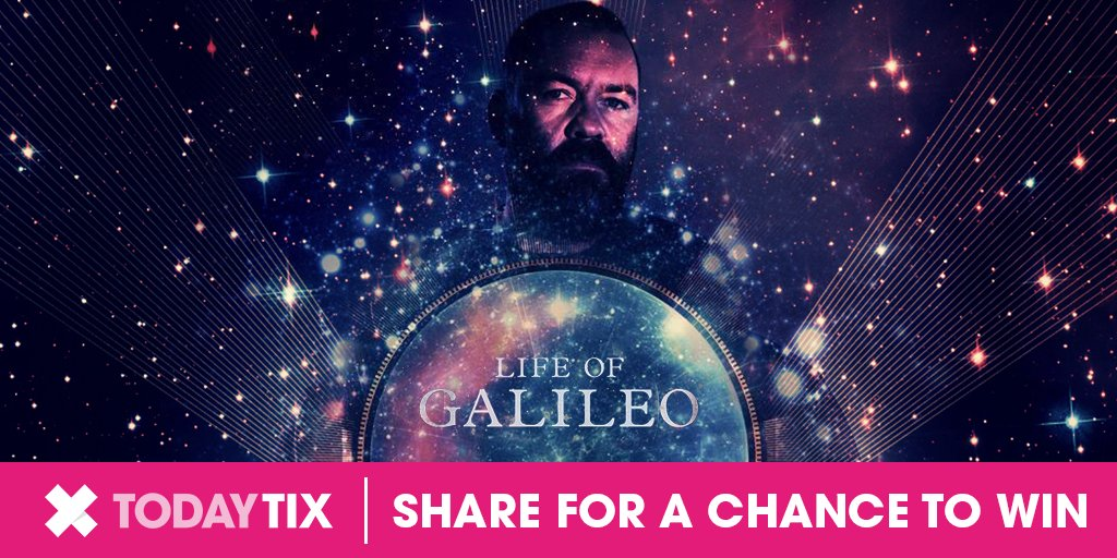 RT to WIN a pair of tickets to the stunning #LifeOfGalileo at the @youngvictheatre. T&amp;Cs:  http:// go.todaytix.com/2s5L1YE  &nbsp;   #TTGiveaway<br>http://pic.twitter.com/qer73QJgD9