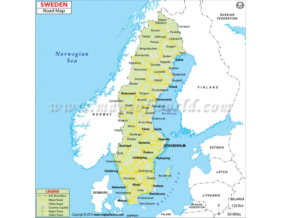 Buy #Sweden Road #Map from store mapsofworld in Digital and Printed.  https:// goo.gl/WceZzb  &nbsp;  <br>http://pic.twitter.com/8hMKZjs0X1