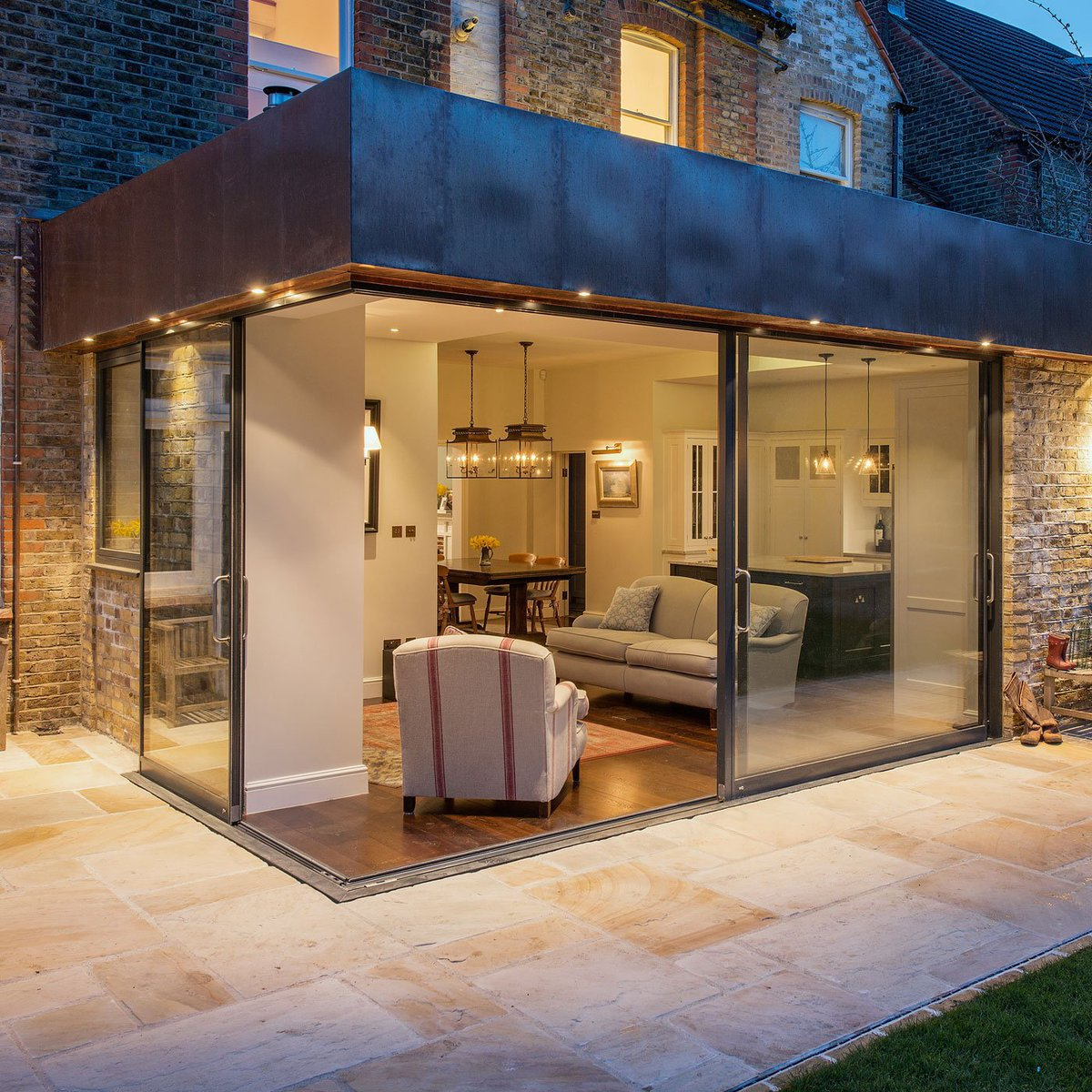 Fineline Aluminium on Twitter  Ambleside | Sliding Doors | Architect Alexander Owen Architcture | Photo Tom St Aubynu2026   & Fineline Aluminium on Twitter: