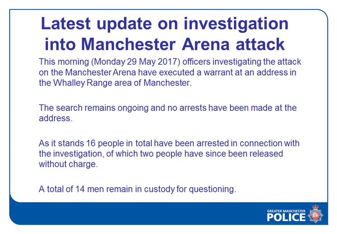 In England, another search is underway, in connection with the attack at Mancester Arena. More on the investigation on @GoodDayAtlanta