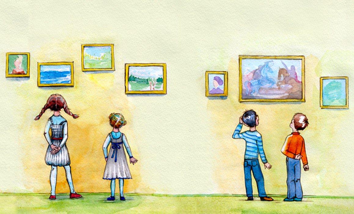 Музей картинки нарисованные