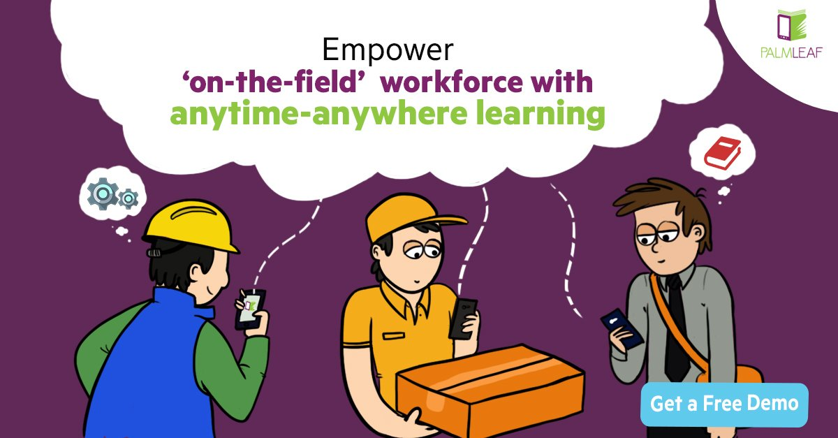 #Training on-the-field workforce effectively is a challenge @PalmLeafSol helps combat this situation  http:// palmleafsolutions.com / &nbsp;   #mLearning #L&amp;D <br>http://pic.twitter.com/ZCW3G23cML