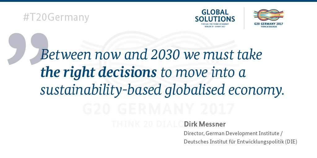 Important message by @DirkMessner #t20germany #GlobalSolutions https://t.co/uIkA0hUF7w