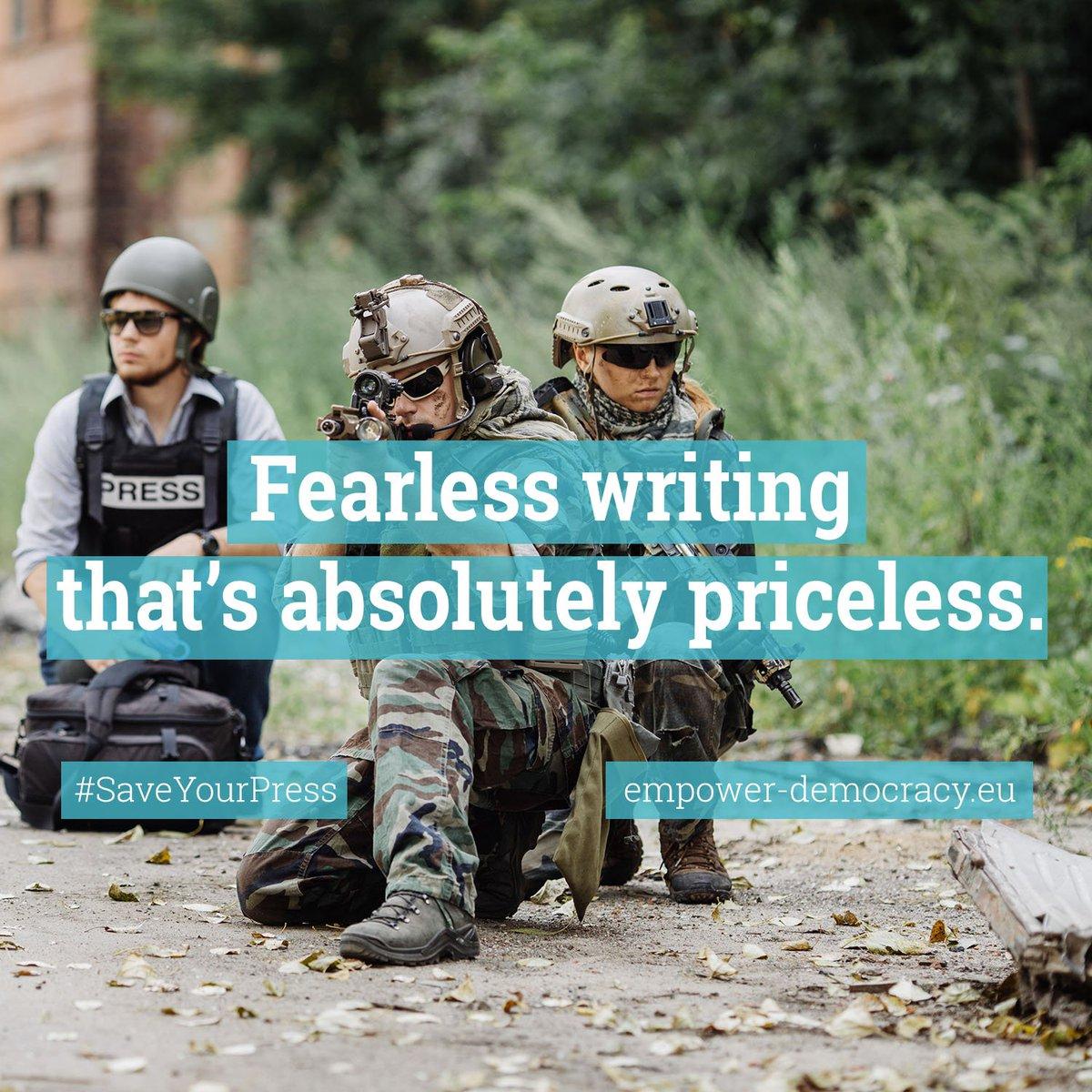 High quality reporting is a tough job #SaveYourPress #copyright  http://www. empower-democracy.eu  &nbsp;   @TonoEPP @fulviomartuscie<br>http://pic.twitter.com/N2ohOvTO0E