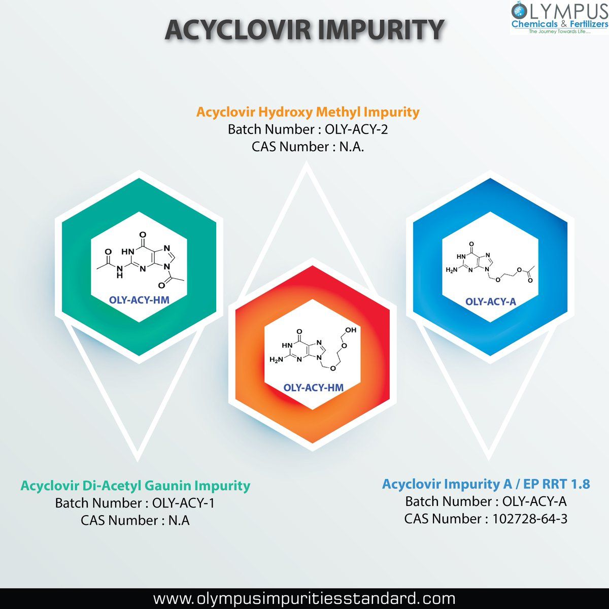 Acyclovir Impurity | Olympus Chemicals &amp; Fertilizers  #view More @  https:// goo.gl/Ryidfs  &nbsp;   #chemical #INDUSTRY #manufacturing #medicine<br>http://pic.twitter.com/lzsGQn5ocj