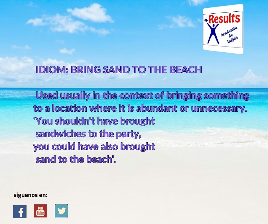 #HappyWeekend , did you know this #idiom related to the #beach ? #ESL #C1 #C2<br>http://pic.twitter.com/bFBB8oFuuP