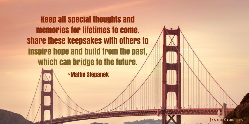 #Presence allows us to treasure memories: building on the past; bridging to the future. #Mindfulness<br>http://pic.twitter.com/VEwbwAI9Wl