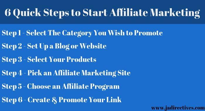 6 Quick Steps to Start #AffiliateMarketing   #SmallBiz #SmallBusiness #entrepreneur #makeyourownlane #marketing #GrowthHacking<br>http://pic.twitter.com/vBL7Hif9n0