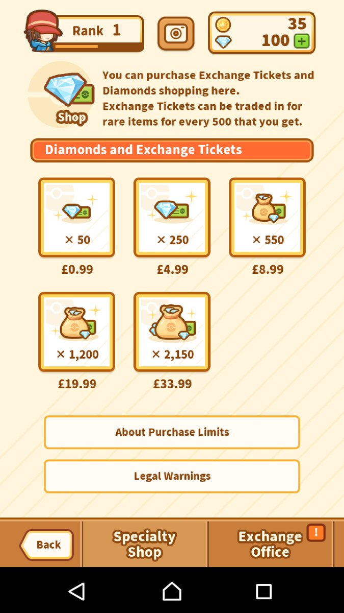 With the new pokemon game they limit your max spend to £100. No whales! Only magikarp. Good ethics Nintendo/Select Button #gamedev <br>http://pic.twitter.com/SmtOaLKW2e
