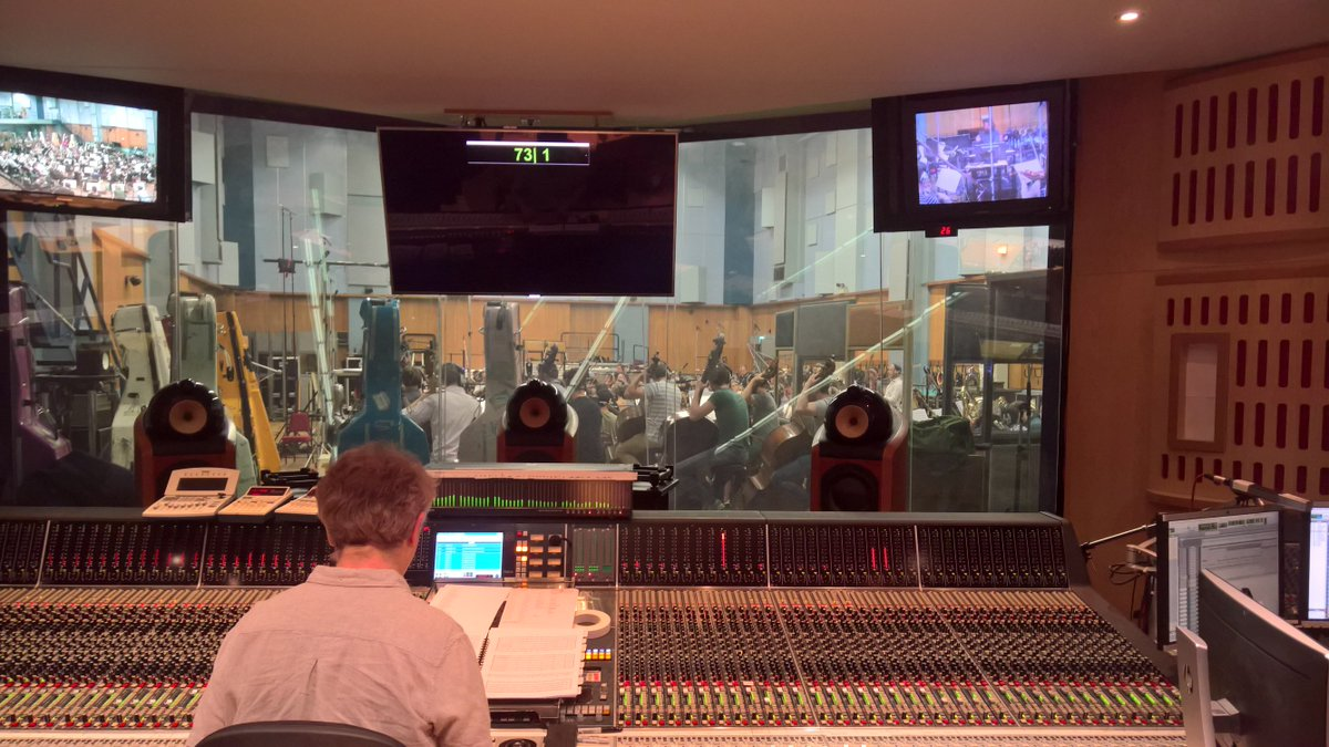 Recording the score for @survivetheark at @AbbeyRoad