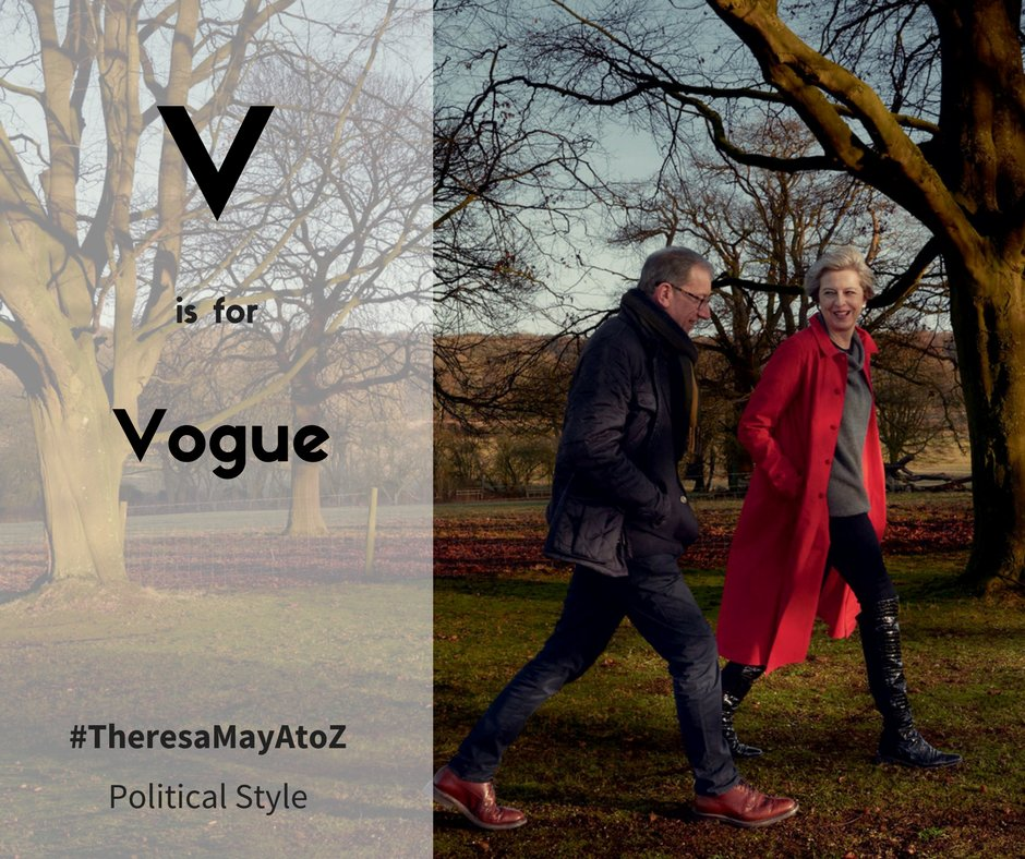 relive the shoot here http politicsandstyle blogspot co uk 2017 05 theresa may z v is for vogue html theresamay voguepic twitter com dhzda9eojt