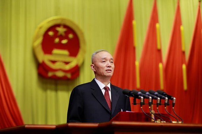 Beijing appoints Cai Qi as party chief: state media https://t.co/XnahNJeYos