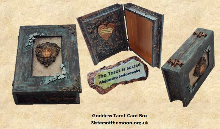 Keep your favourite deck in this beautiful #Goddess #Tarot #Card #Box from #Sisters  http:// bit.ly/2oXmUxe  &nbsp;    #crafturday<br>http://pic.twitter.com/rZPZoghxno