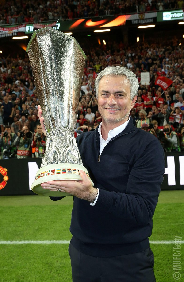 Twelve months, three trophies 🏆🏆🏆  Jose Mourinho was appointed #MUFC manager one year ago today.