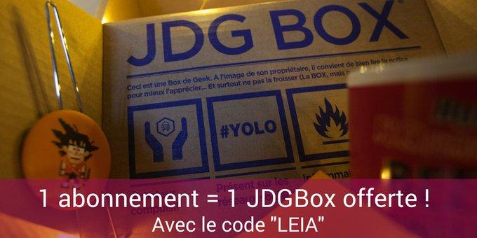 Plus que 6 jours pour vous abonner et recevoir la JDGBox de juin ! Profitez d'une box offerte avec le code 'LEIA' 🎁 https://t.co/IFK2XfHjzq