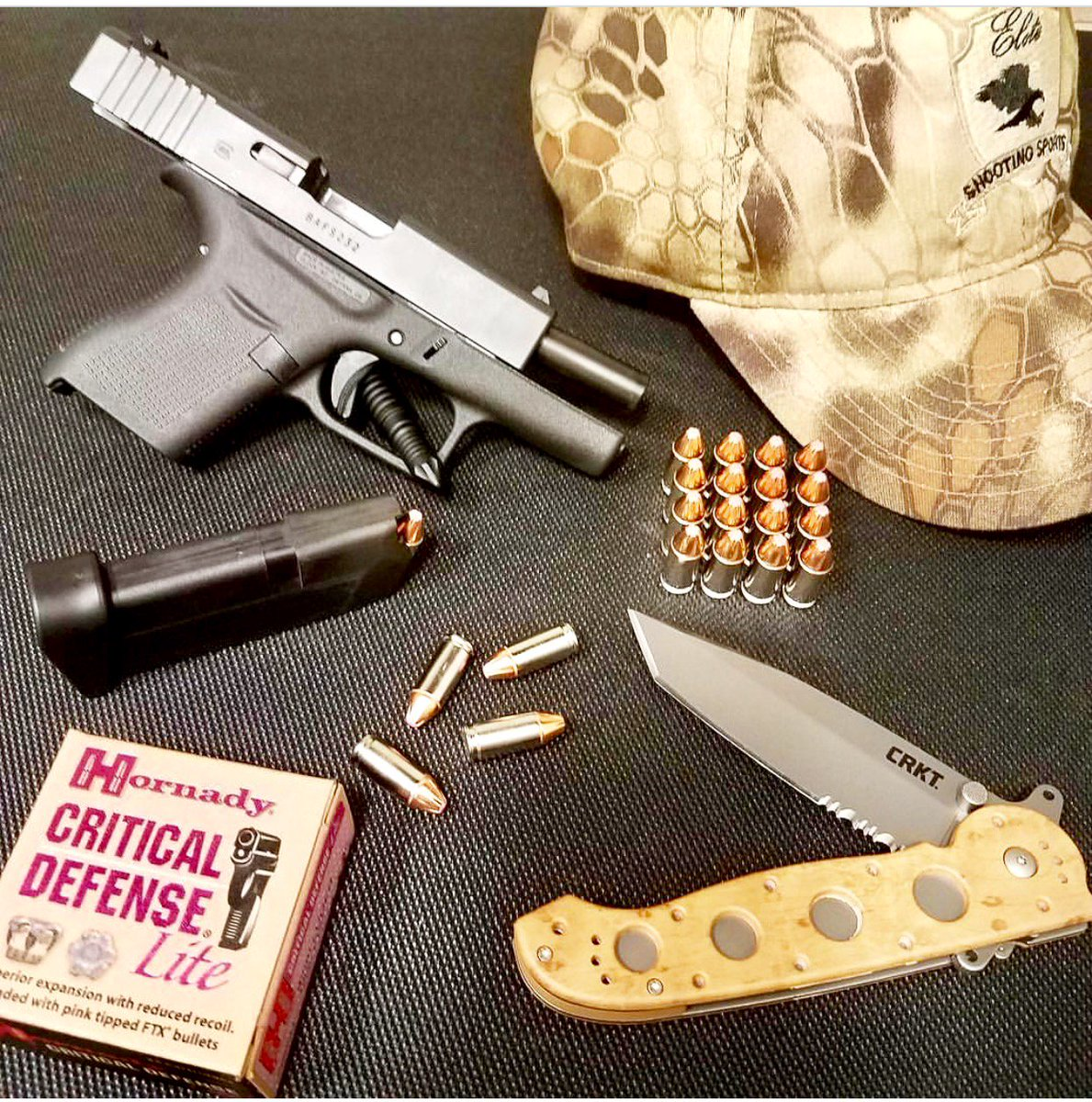 It&#39;s #SunDayGunDay What are you bringing to the #range?  http:// bit.ly/EliteRange  &nbsp;   #Glock43 #hornady #9mm #edc #EliteShootingSports #crkt #2A<br>http://pic.twitter.com/UaGfLaYH1B