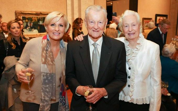 Dr. Brzezinski with the two women he loved for so long, here at the opening of @Ebbtrees' Kreeger Museum exhibit on November18, 2015.