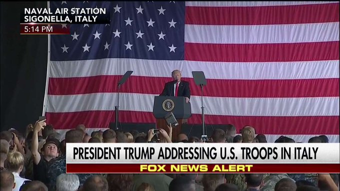 .@POTUS: 'We're behind NATO all the way, but we want to be treated fairly.'