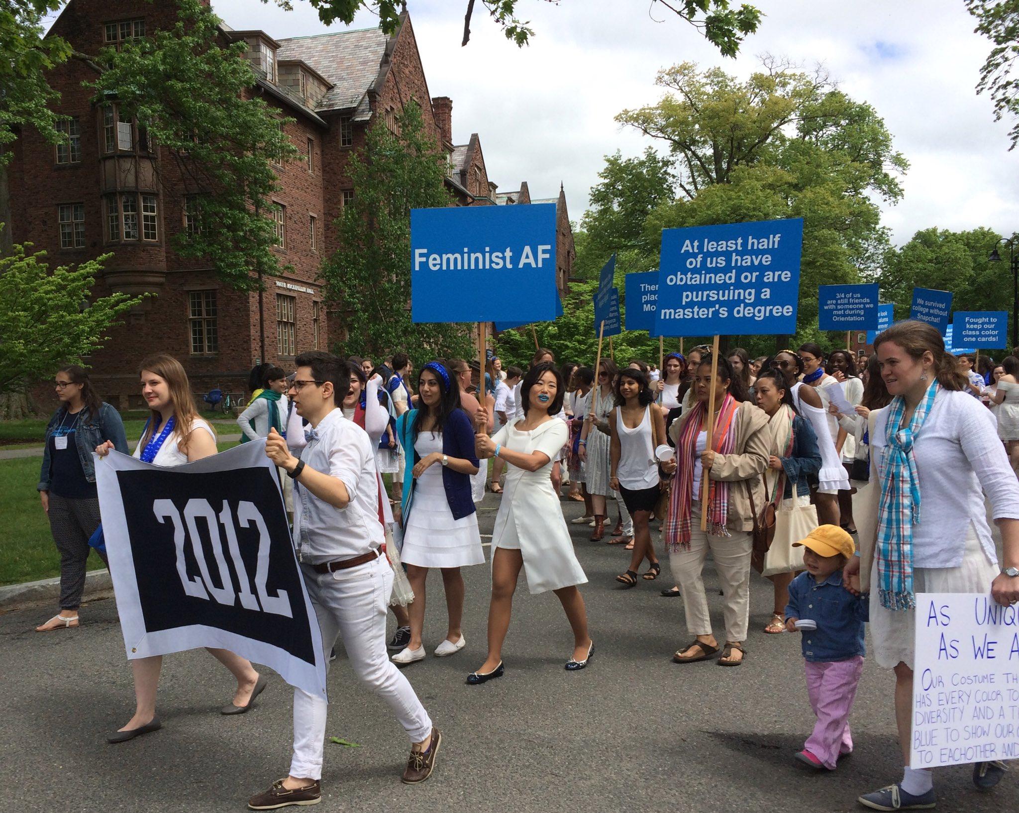 "5th reunion class of 2012, ""Feminist AF""! #mhcreunion https://t.co/XssZbqQXgb"