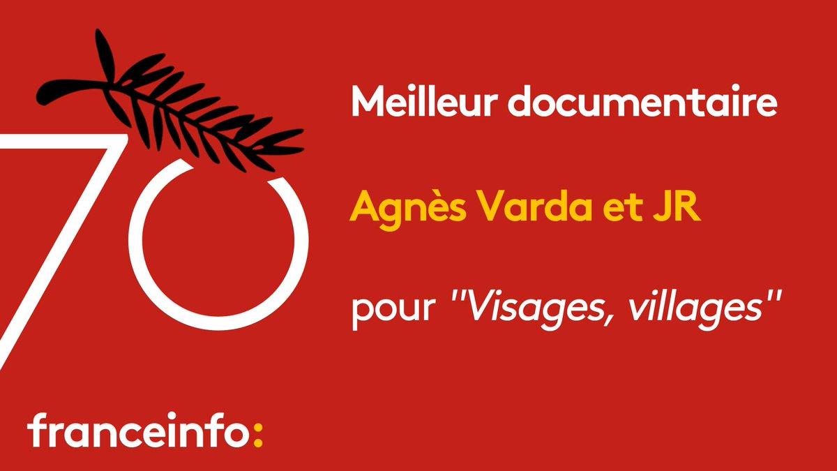 #Cannes2017 : le prix du meilleur documentaire décerné à Agnès Varda et JR https://t.co/xsPdVLMKzU #Cannes70