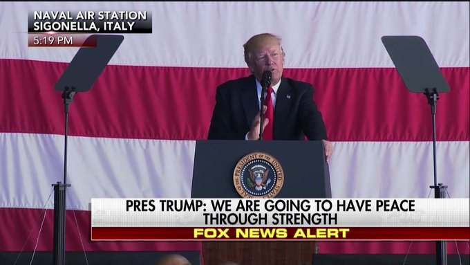 .@POTUS: 'American military power helped to free the world from the oppression of Communism.'