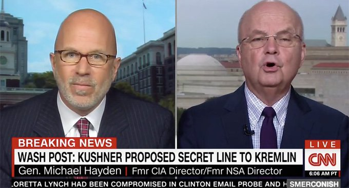 Ex-CIA head Hayden rips Jared Kushner for 'ignorance and hubris' over Russian back-channel overtures https://t.co/C3O2XQndCS