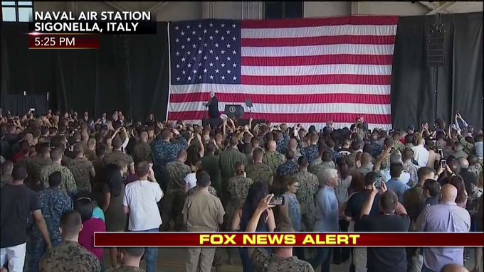.@POTUS: 'May God bless you. May God bless our service-members. May God bless the United States of America.'