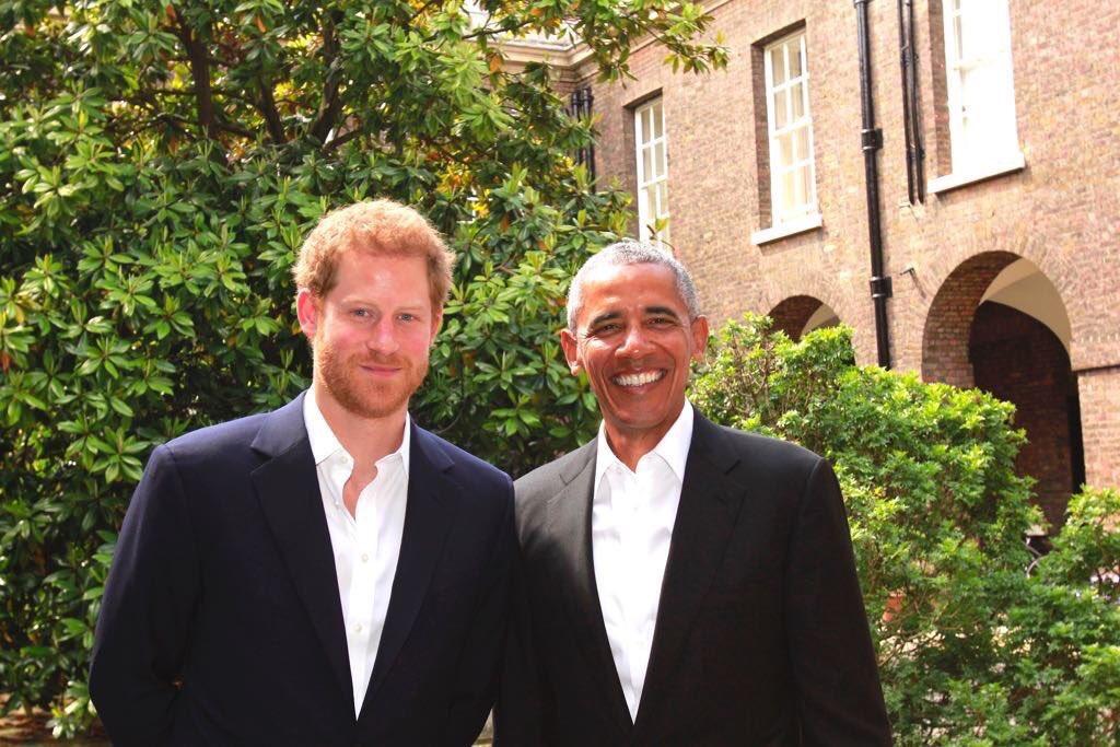 Принц Гарри встретился с Бараком Обамой в Кенсингтонском дворце