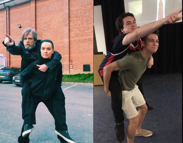 Channeling my inner @HamillHimself with @gabrielwclark  Close enough... #StarWars <br>http://pic.twitter.com/d8um14e4Vb