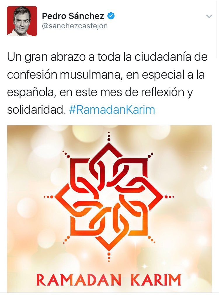 Image result for pedro sanchez ramadan