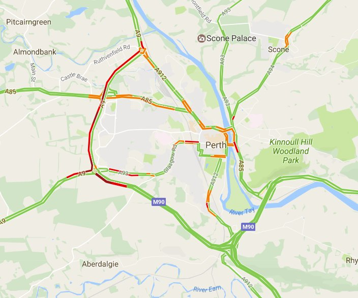 test Twitter Media - Workers reporting 25 minute delay #A9 N/B btwn Broxden and Inveralmond R/B's due to roadworks 👷 Bank Holiday Weekend adding to congestion 👎 https://t.co/TPDY8zkTzJ