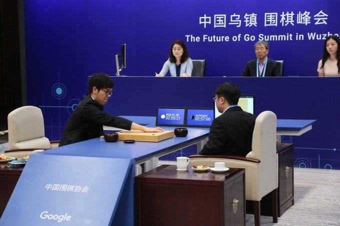 Après sa 2eme victoire contre le meilleur joueur mondial de Go, il semble que l'I.A. AlphaGo soit devenue imbattable https://t.co/vWBY99YMqI